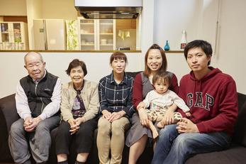 家族7人が集まる快適なLDKができました