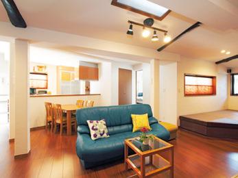 効果的な間取り変更でLDKは広く明るく、水まわりは使いやすい家